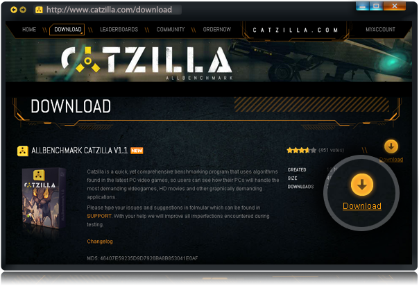 Catzilla ALLBenchmark - manual / download