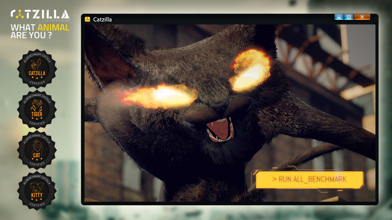 Click to view Catzilla ALLBenchmark screenshots